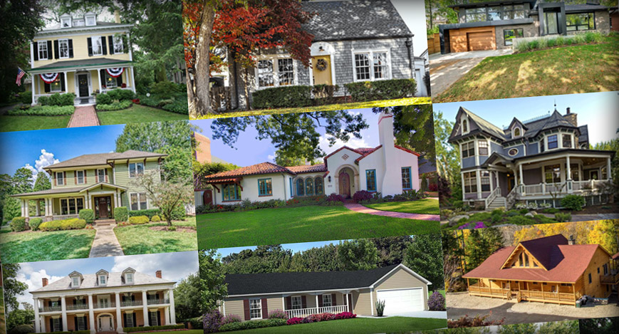 home styles in New Jersey a selection of types of houses